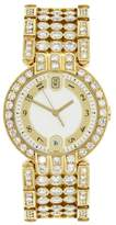 Harry Winston Premier MQ 34 GL 18K Yellow Gold Quartz Diamond 34mm Mens Watch
