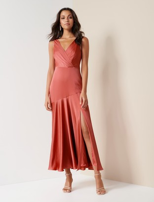 Forever New Marcella Satin Maxi Dress - Summer Melon - 10