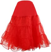 UTOVME Women 1950s A Line Tutu Petticoat Skirt Crinoline Swing Underskirt