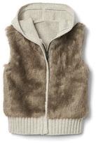Gap Faux-fur vest hoodie