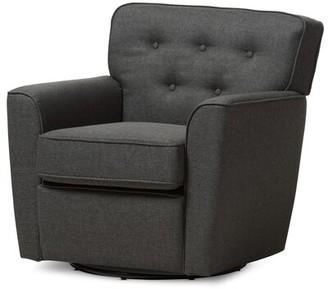 Kleopatros Swivel Armchair Latitude Run Upholstery Color: Gray