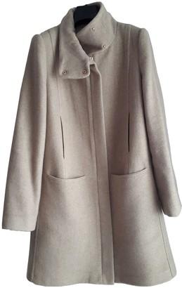 MANGO Beige Wool Coat for Women