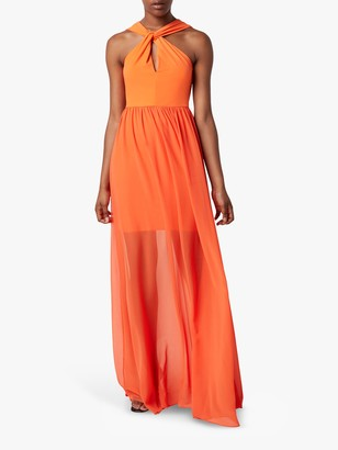 French Connection Panthea Jersey Maxi Dress, Sunshine Orange