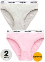 Very Girls Knickers - Pink/Grey