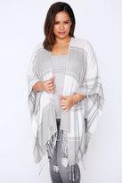 Yours Clothing Cream & Grey Colour Block Wrap