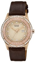 Citizen Women's FE1113-03A Drive From Eco-Drive TTG Analog Display Japanese Quartz Brown Watch