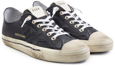 Golden Goose V-Star2 Suede Sneakers