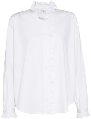Great Plains Tilly Ruffle Neck Poplin Shirt