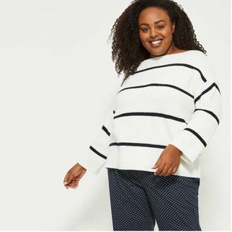 Joe Fresh Women+ Boatneck Knit Top, White (Size 1X)