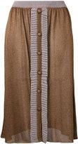 D'enia - buttoned knit skirt - women - Nylon/Acetate/Metallized Polyester - M
