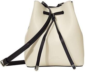 Lauren Ralph Lauren Dryden Debby II Mini Drawstring (Vanilla/Lauren Navy/Color Block) Handbags