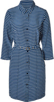 Estate Blue/Multi Silk Izzy Dot Print Dress