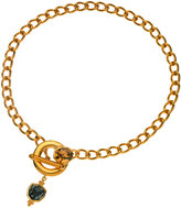 T Tahari Gold-Tone Toggle Necklace with Crystal Accents