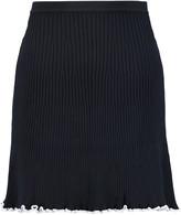 J.W.Anderson Ruffle-trimmed ribbed-knit mini skirt