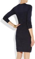 Fendi Jacquard-paneled stretch-jersey dress