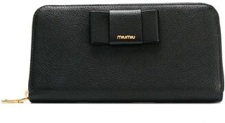 Miu Miu zip-around bow wallet