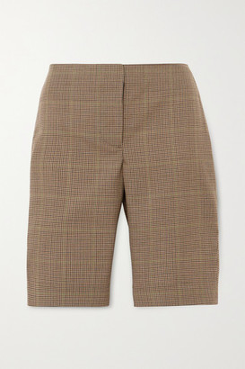 WRIGHT LE CHAPELAIN Checked Wool Shorts - Brown