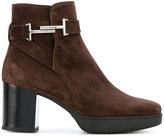 Tod's platform heel boots - women - Calf Leather/Suede/rubber - 37