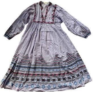 Figue Multicolour Cotton Dress for Women