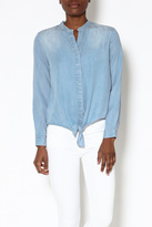 Velvet Heart Chambray Long Sleeve Top