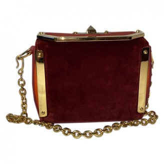 Alexander McQueen Box 16 Red Velvet Handbags