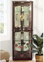 Charlton Home Lohmer Corner Curio Cabinet