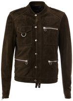 Lanvin snap button detail jacket - men - Cotton/Calf Leather/Lamb Skin - 48