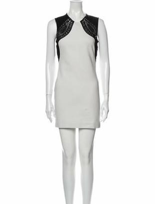 Emilio Pucci Colorblock Pattern Mini Dress White
