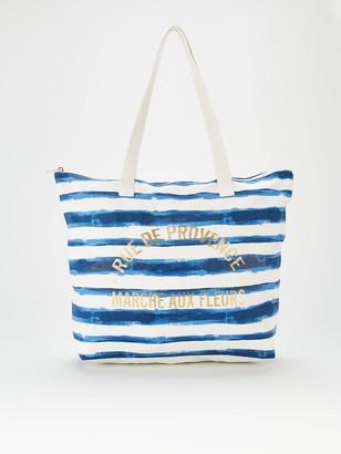 Very Stripe Canvas Bag - Navy White