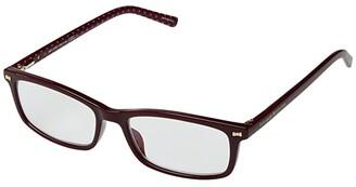 Kate Spade Jodie Blue Light Reading Glasses (Burgundy) Reading Glasses Sunglasses