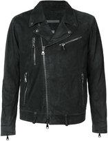 John Varvatos washed biker jacket - men - Goat Skin - M