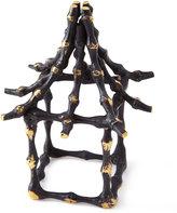 Kim Seybert Dynasty Placemat, Natural/Brown Dip-Dye Napkin, & Bamboo Pagoda Napkin Ring
