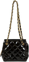One Kings Lane Vintage Chanel Black Patent Evening Shoulder Bag