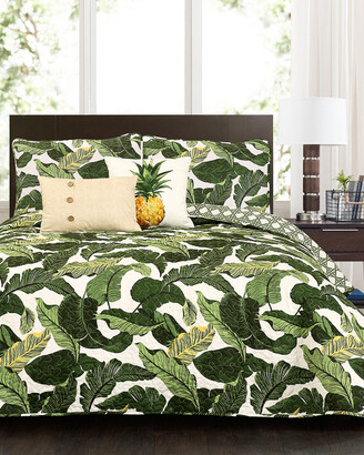 Triangle Home Fashion Tropical Paradise Quilt Set
