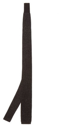 Paul Smith Silk-blend Lame-knit Tie - Black