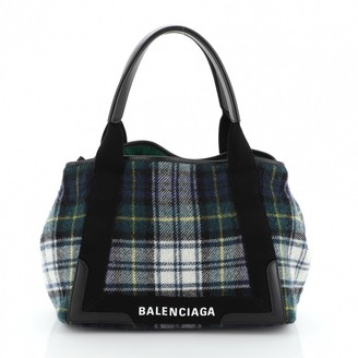 Balenciaga Navy cabas Blue Wool Handbags