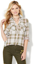 New York & Co. Soho Soft Shirt - Hi-Lo - Plaid