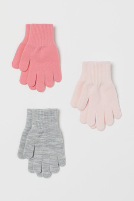 H&M 3-pack Gloves - Pink