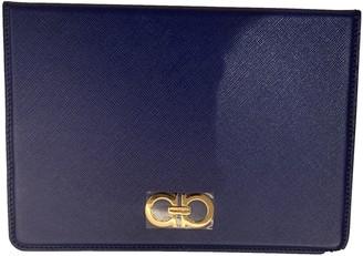 Salvatore Ferragamo Blue Leather Accessories