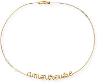 Atelier Paulin Personalized 12-Letter Wire Necklace, Yellow Gold Fill