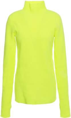 Helmut Lang Neon Ribbed-knit Turtleneck Sweater