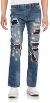 Mostly Heard Rarely Seen Cut Inset Straight-Leg Jeans