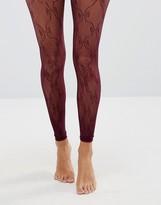 Asos Footless Lace Detail Tights