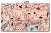 Charlotte Olympia Pandora map print clutch