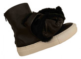 Thumbnail for your product : Joshua Sanders Black Leather Trainers