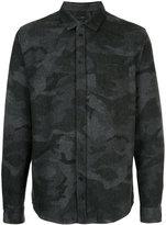 IRO long sleeved camouflage shirt
