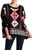 Romeo & Juliet Couture Long Sleeve Geo Pattern Sweater