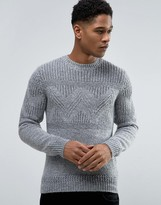 Celio Knitted Jumper With Chunky Pattern Detail