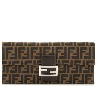 Fendi Pre-Owned Zucca pattern clutch bag