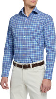 Peter Millar Men's Finish Stretch Plaid Sport Shirt
